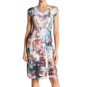 Komarov cosmic dust multicolor stretch dress NWT